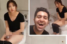 หนุ่มแกล้งแฟนใส่ยาระบายให้กินก่อนตามไปถ่ายอาการแฟนสาวถึงในห้องน้ำ!!!