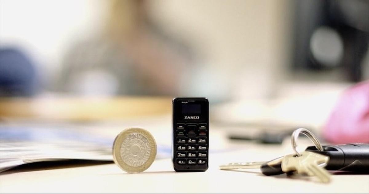 โทรศัพท์มือถือเครื่องเล็กที่สุดในโลก ใหญ่กว่าเหรียญนิดเดียว