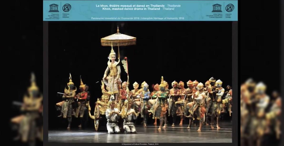 Khon masked dance drama in Thailand