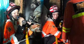 Girl firefighter-taksin