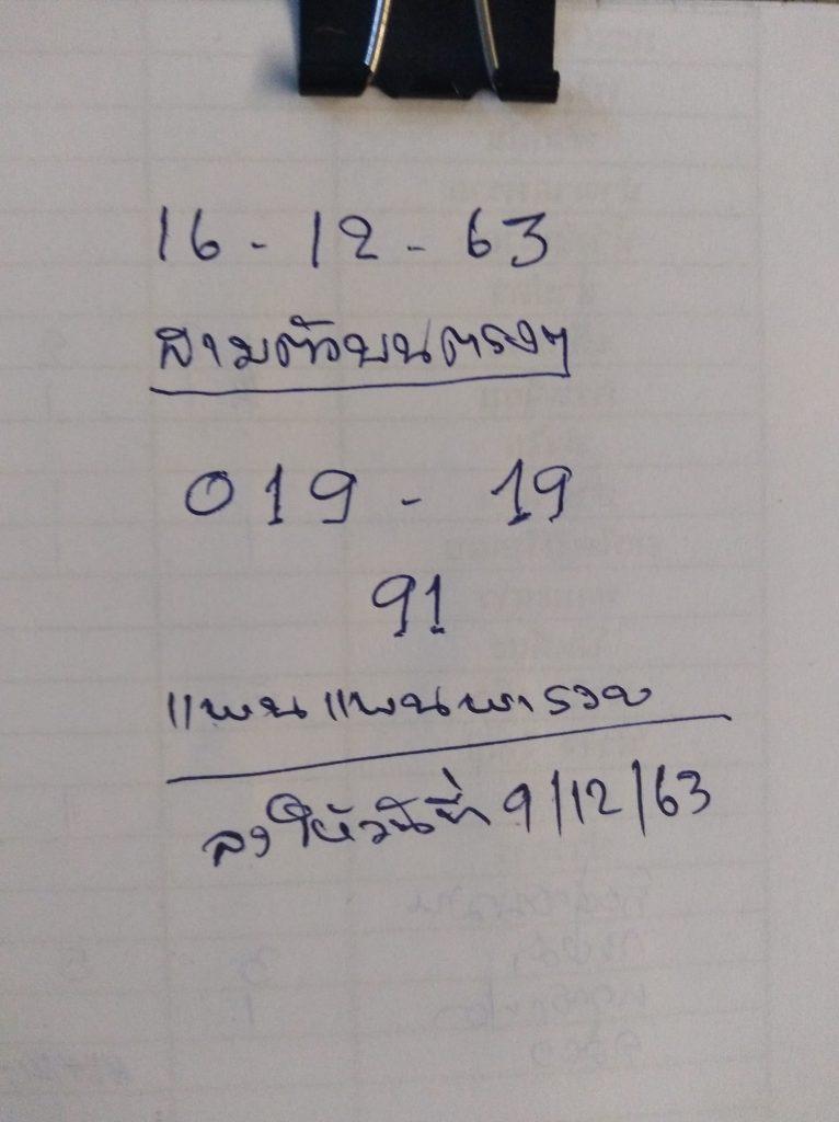 ส่องเลขเด็ดโค้งสุดท้าย คัดเน้นๆ 2 ตัวบน หวย16/12/63